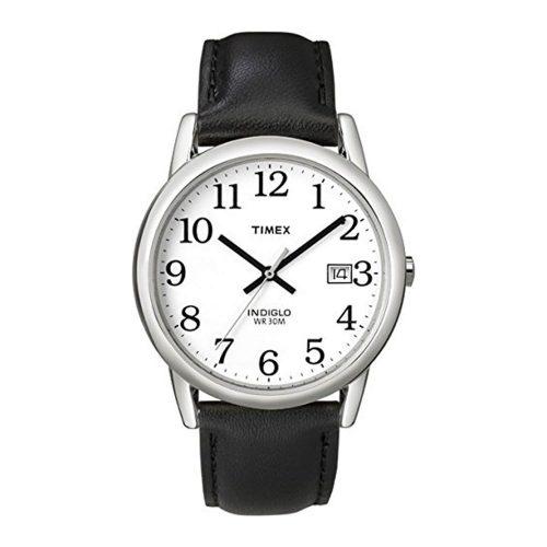 Timex-Easy-Reader-T2H281-klassische-Herrenuhr-mit-schwarzem-Lederarmband-und-Quarzuhrwerk