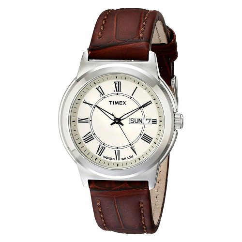 Timex-Elevated-Classics-T2E581-Herrenuhr-Dresswatch-mit-Lederarmband