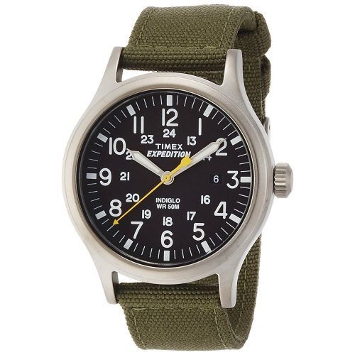 Timex-Exepedition-T49961-Analog-Quarzuhr-Herren-mit-Textilarmband