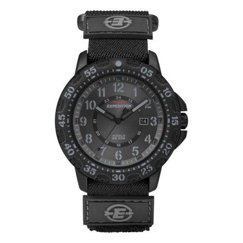 Timex-Expedition-Camper-T49997-schwarze-Herrenuhr-mit-Mineralglas-und-Nylon-Textil-Armband