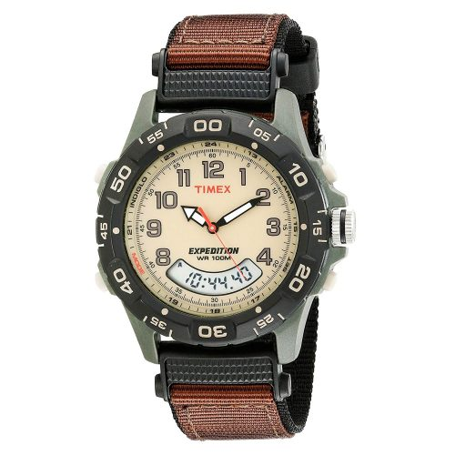 Timex-Expedition-T45181-Chronograph-mit-Analog-Digitaldisplay-und-Textilarmband