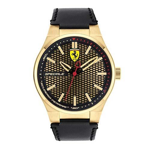 ferrari-herrenuhr-specialie-schwarz-gold